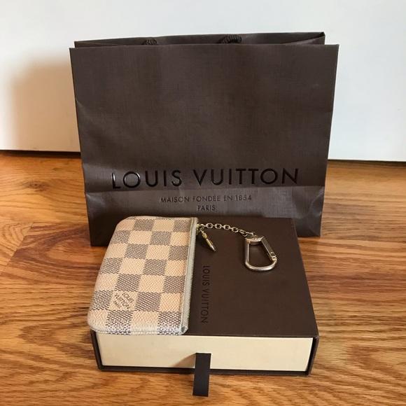44d07e63724 Louis Vuitton Accessories - Louis Vuitton Damier Azur Canvas Key Pouch